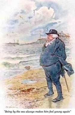 Dr. Shirley at the sea